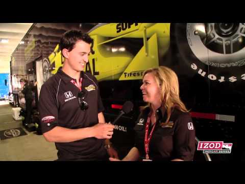 Graham Rahal & Sarah Fisher in St. Pete Video