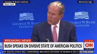 President George W Bush amazing speech Bigotry, White Supremacy are Blasphemy