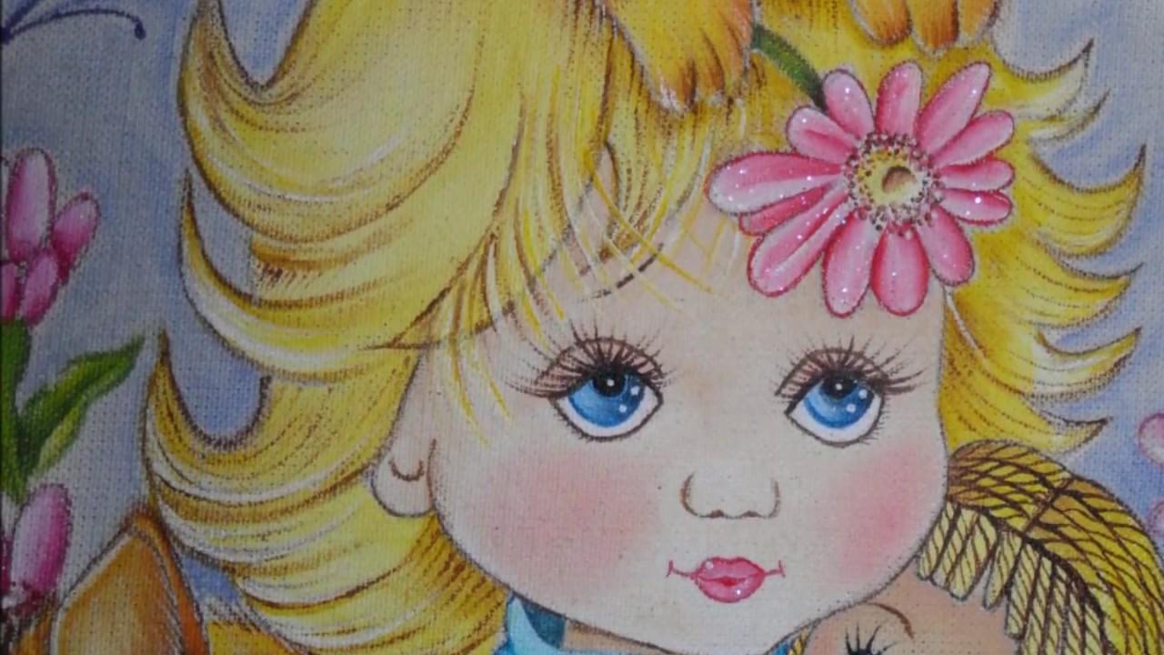 Mis trabajos de pintura en tela y pirograbado youtube - Dibujos para pintar en tela infantiles ...