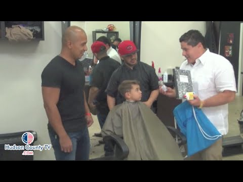 West New York Kids get free haircuts before school year