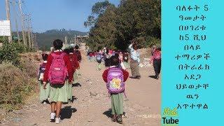 ETHIOPIA ባለፉት 5 ዓመታት በሀገሪቱ ከ5 ሺህ በላይ ተማሪዎች ወደ ትምህርት ቤት ሲሄዱና ሲመለሱ በትራፊክ አደጋ ህይወታቸዉን አጥተዋል