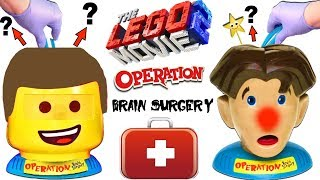 THE LEGO MOVIE 2 OPERATION BRAIN SURGERY GAME: What's Inside Emmet's Head? Win Surprise Toys