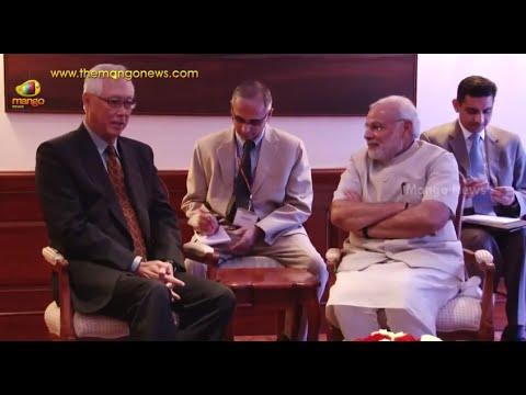 India PM Modi receives former Singapore PM Goh Chok Tong in Delhi