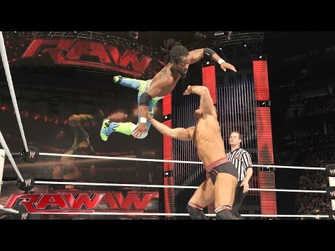 Kofi Kingston vs. Cesaro: Raw, July 7, 2014