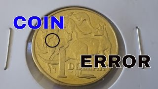 Australia 2015 $1 coin error, third roo with missing leg