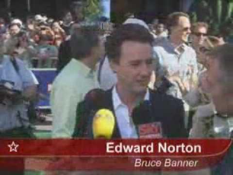 Edward Norton At Incredible Hulk Premiere