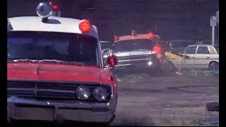 '64 Caddy Ambulance chases '64 Olds Ambulance