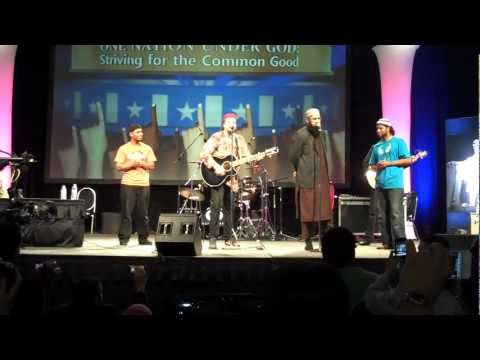 Dil Dil Pakistan Salman Ahmad and Junaid Jamshed on stage at...