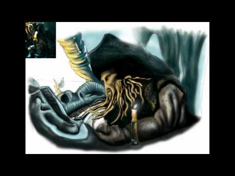 Davy Jones Pirates of the Caribbean (Digital Painting)