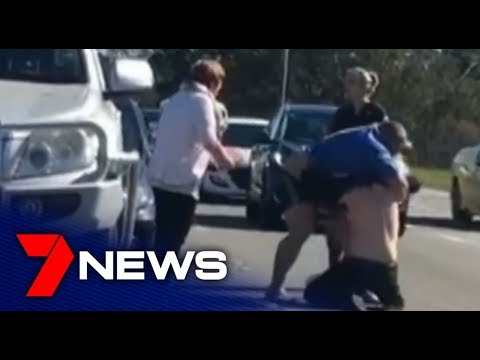 Road rage attack on busy Perth road caught on camera | 7NEWS