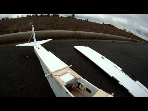 R/C aiplane scrap build (Guppy)  first flights