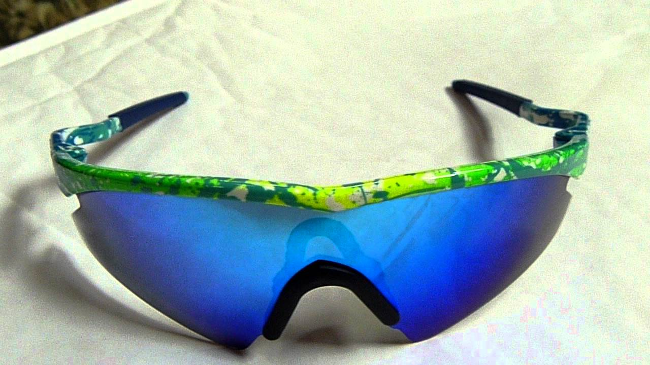 Rare Oakley Mumbo M Frame Green Splatter Youtube