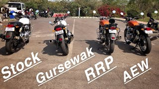 Red Rooster vs AEW vs Gursewak vs Stock: The MEGA Interceptor/Continental GT 650 Exhaust Battle