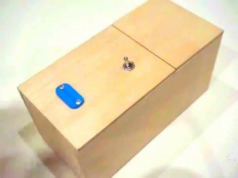 Бесполезная коробка - устройство (Useless box kit) - купить самую бесполезную коробку в Москве на tubethe.com