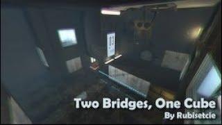 "[Portal 2] ""Two Bridges, One Cube"" by Rubisetcie"