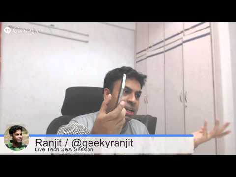 #54 Live Tech Q&A Session with Geekyranjit - 26 Aug 2014