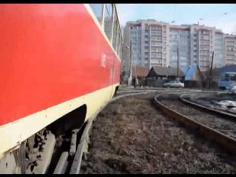В Ижевске трамвай сошел с рельс