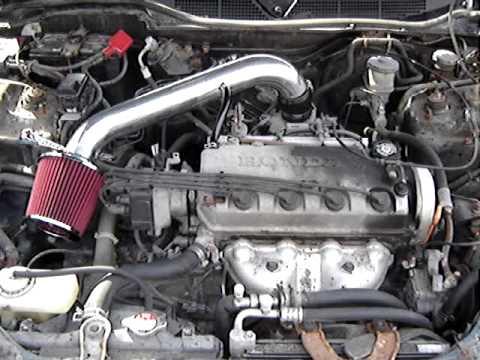 Honda Civic Short Ram Intake - YouTube