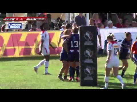 Canada vs. USA - Women's Rugby Super Series - Highlight and post game reaction