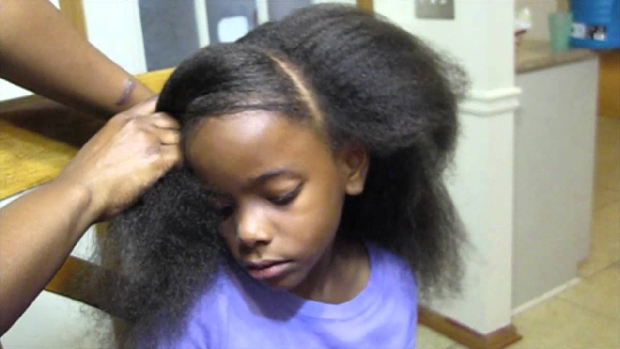 styles to do with natural hair 248 Natural Kids Styles w Creme of Nature YouTube