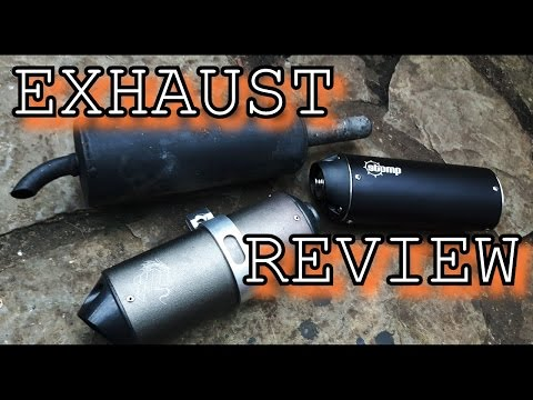 PIT BIKE EXHAUST REVIEW! 3 DIFFERENT EXHAUSTS