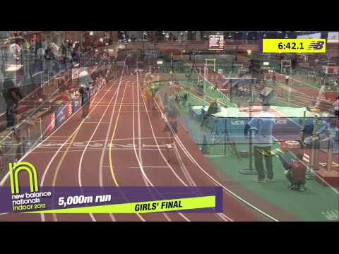 G 5000 H02 (Erin Finn 16:19 *National Record, HS Indoor Nationals 2012)
