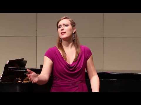 Allison Bonner, soprano, performing  'Kling!' - Richard Strauss