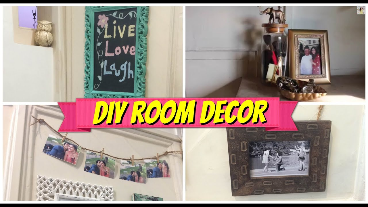 Diy room decor cute cheap youtube for Cheap diy bedroom ideas