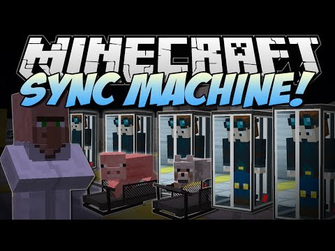 Minecraft | SYNC MACHINE! (Piggy Treadmills & Clones!) | Mod Showcase