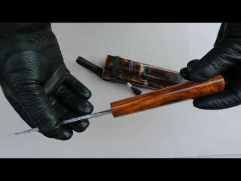 Якутский нож полусреднего размера.