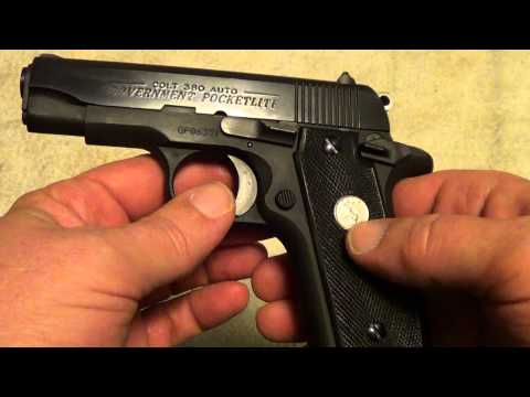 Colt .380 Government Pocketlite pistol