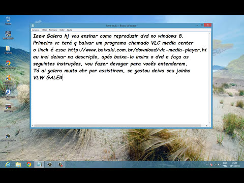 Como reproduzir dvd no windows 8, facil e rapido