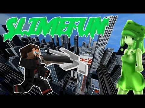 Minecraft 1.11.2  SlimeFun   How to Make Steel and a Grappling Hook +other machines [3]
