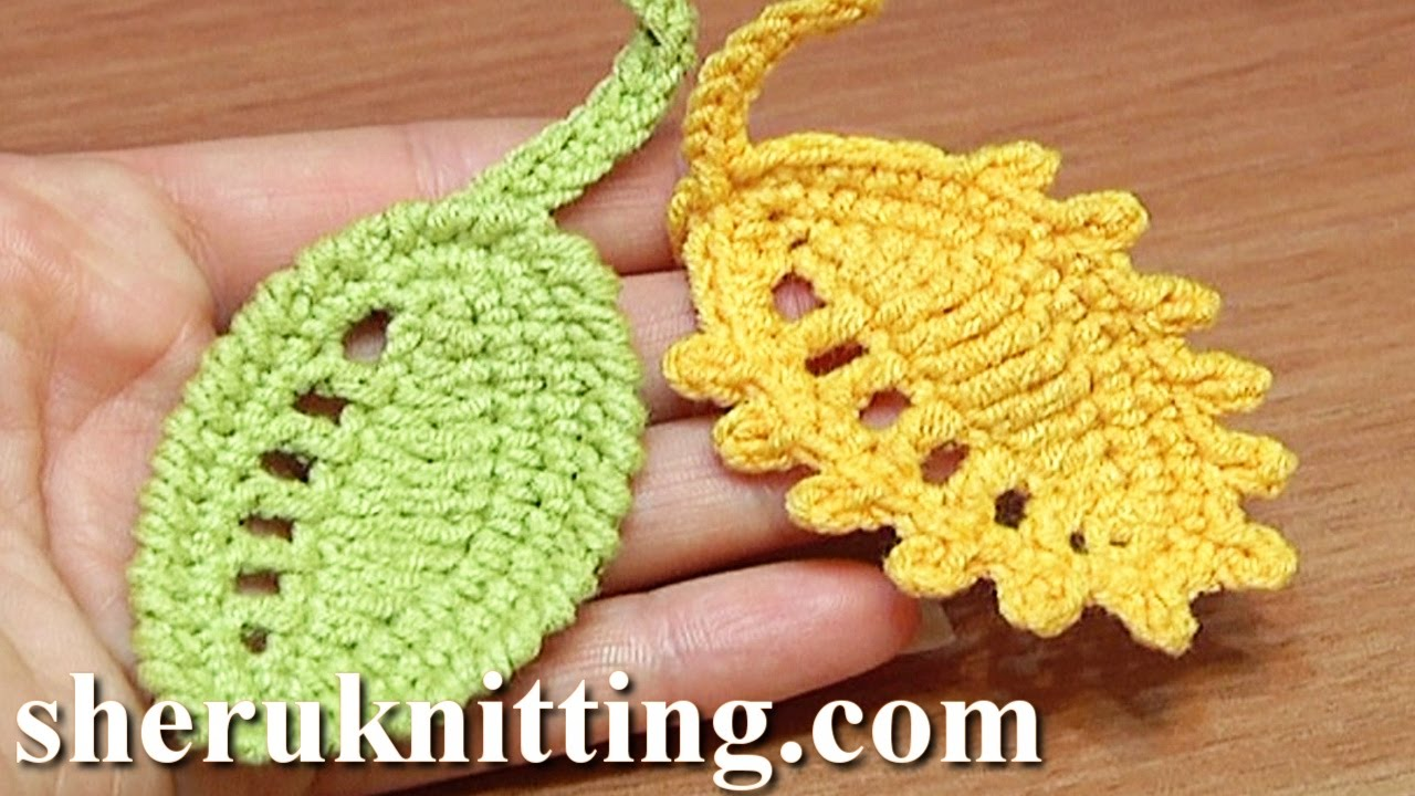 Crochet Leaf Rain Drops Tutorial 27 Reverse Single Crochet ...