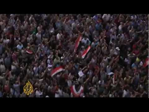 Demonstrations carry on through the night in Egypt