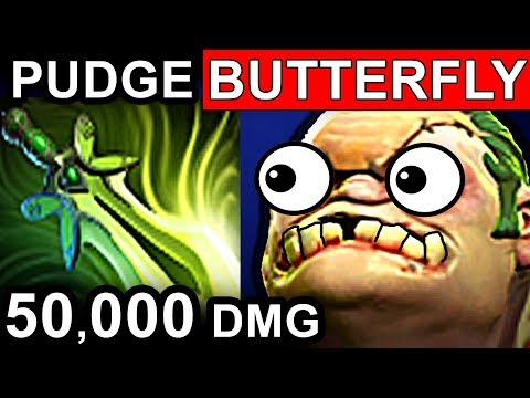 PUDGE BUTTERFLY - DOTA 2 PATCH 7.06 NEW META PRO GAMEPLAY