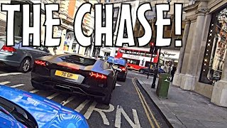 THE CHASE: Lamborghini Aventador & Huracan in London!!