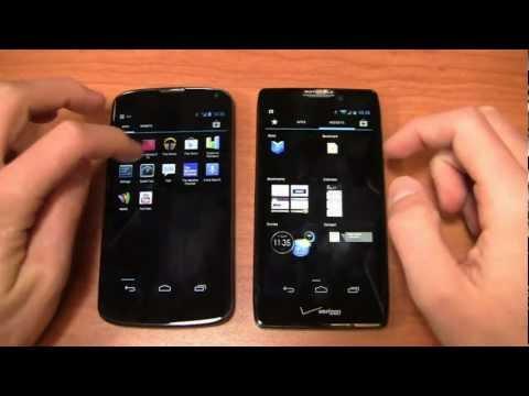 Google Nexus 4 vs. Motorola DROID RAZR HD Dogfight Part 2