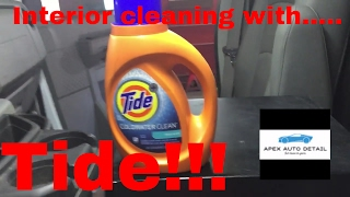Tips and Tricks on how to clean the interior of your truck or car with TIDE!!!