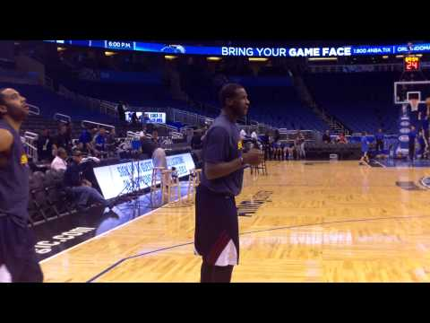 Cavs guards Dion Waiters, and All-Star Kyrie Irving  pregame