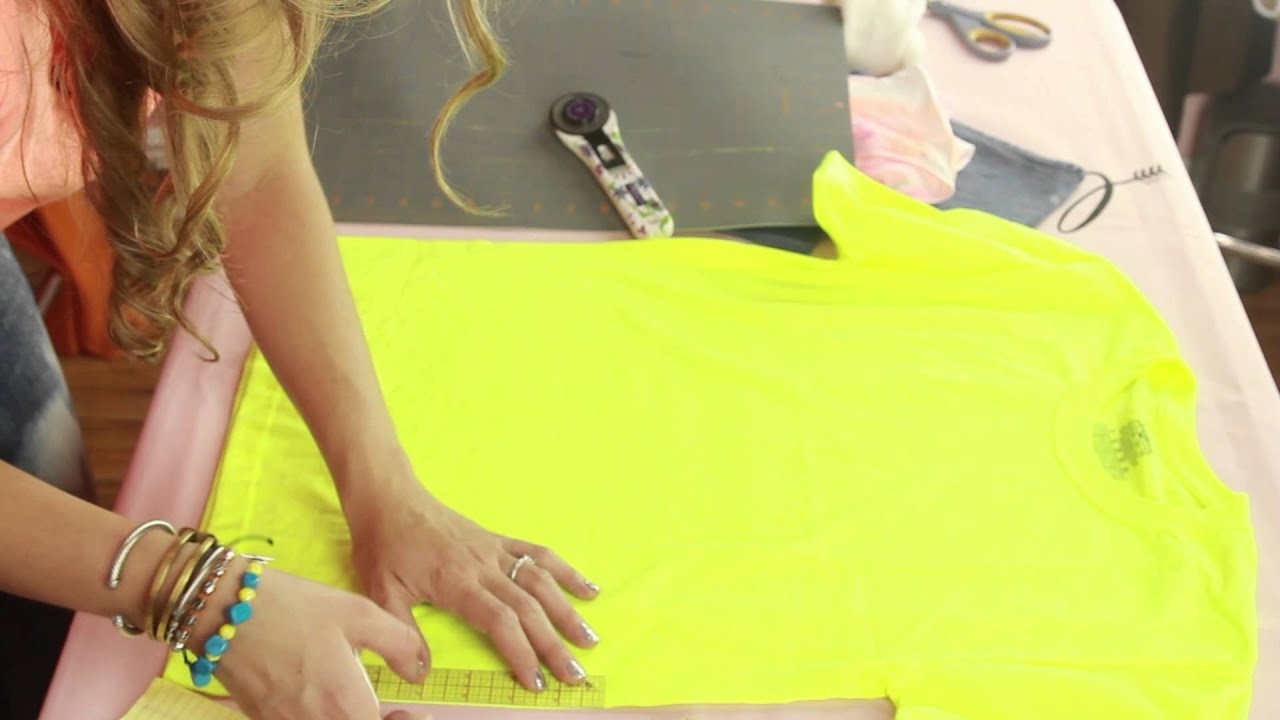 How to Make Cut Off Shirts How to Cut a Shirt Into a Crop