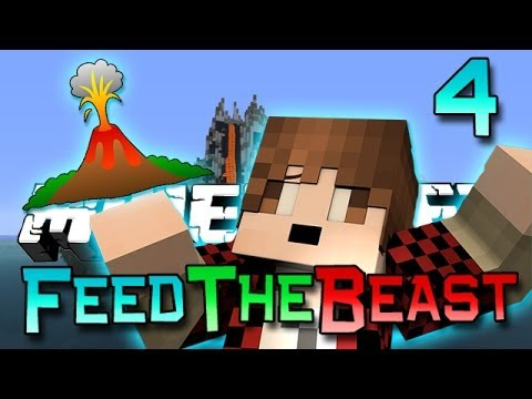 Minecraft: Feed The Beast Ep. 4 - Volcano of Doom! (Modded Survival Series)