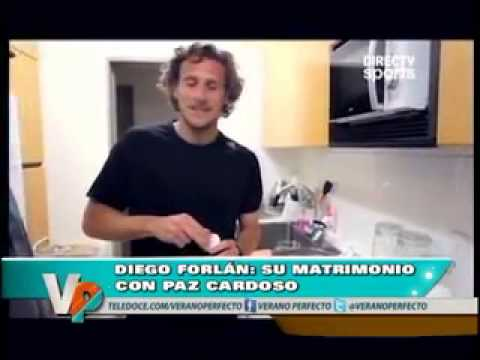 El video de Diego Forlán cocinándole a su esposa