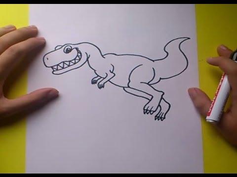 Como dibujar un dinosaurio paso a paso 6 | How to draw a dinosaur 6