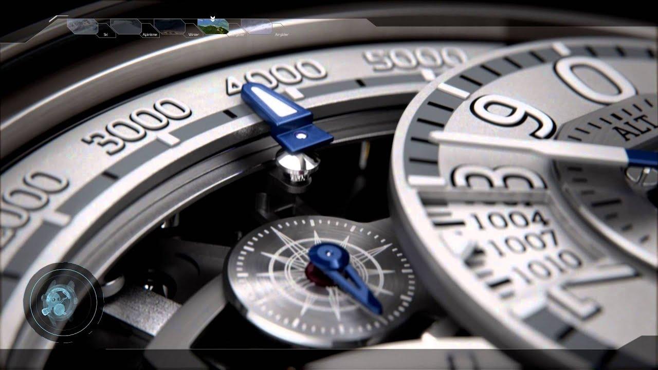 Breva genie 02 terra luxury watch with mechanical altimeter youtube for Luxury watches