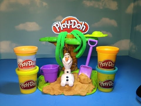 Play Doh Disney Frozen Olaf Summer Surprise Disney Play-Doh Frozen Toy Adventure