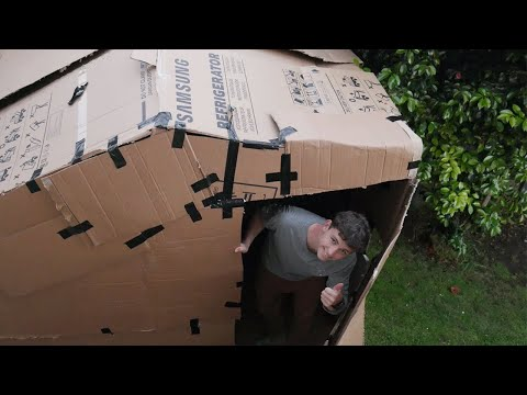 Building a Cardboard House (and then sleeping in it)