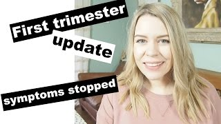 MY SYMPTOMS HAVE DISAPPEARED | 9-12 week pregnancy update | Kate+