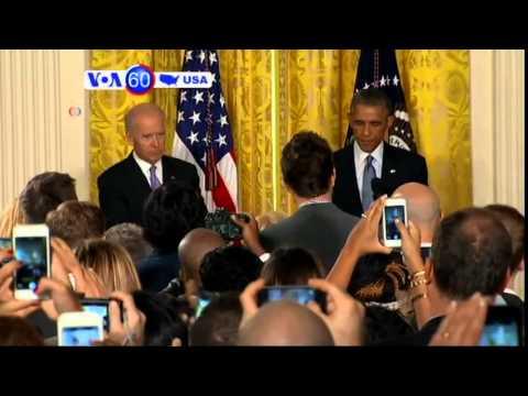Obama has reaffirmed support for Ukraine - VOA60 America 09-19-14