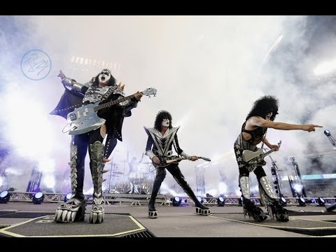 Kiss - Detroit Rock City - Dodger Stadium, 25 01 2014 (la Kings Vs. Anaheim Ducks) video